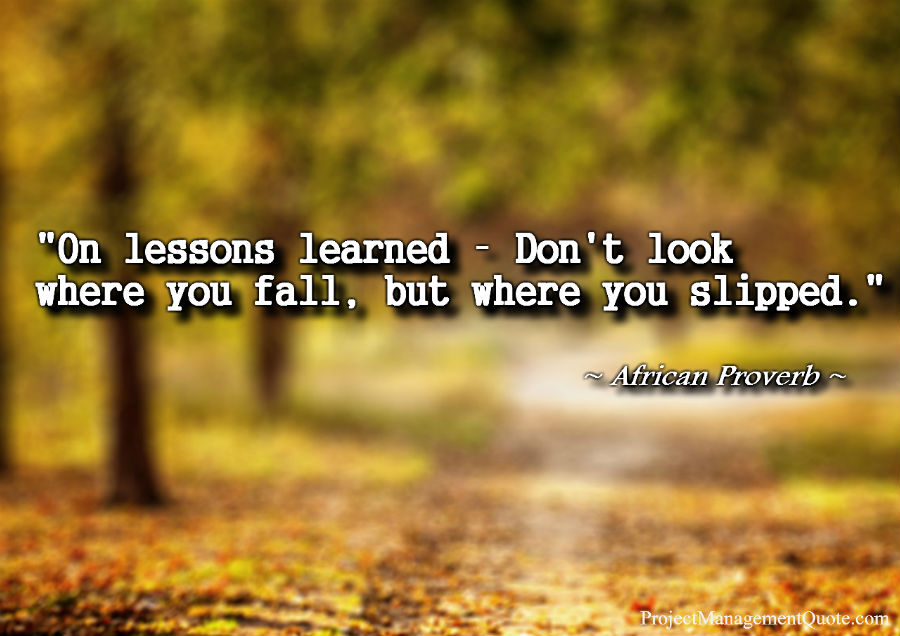 Lessons Learned PMP Quotes Adorable Lessons Learned Quotes